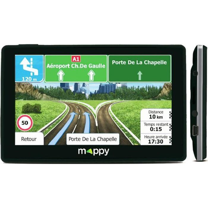 GPS AUTO GPS MAPPY - 5 pouces - Cartographie 14 pays Europe
