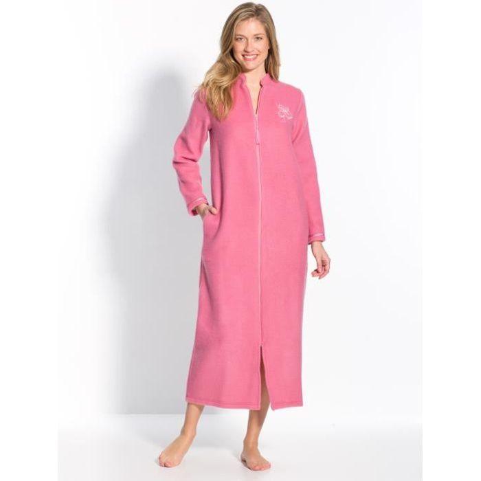 Robe De Chambre Zippée En Molleton Courtelle Achat Vente Robe De