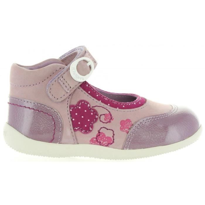 Chaussures pour Fille KICKERS 474580-10 BIKIFIRST VIOLET CLAIR