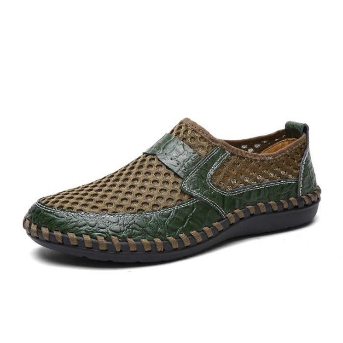 Chaussure Homme Printemps Été Comfortable Respirant Slip On Chaussures BYLG-XZ070Vert42 QOzag