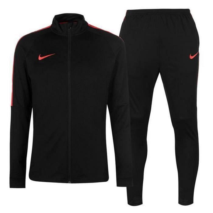 best loved bb006 00b1f SURVÊTEMENT Jogging Nike Swoosh Homme Noir et Rouge