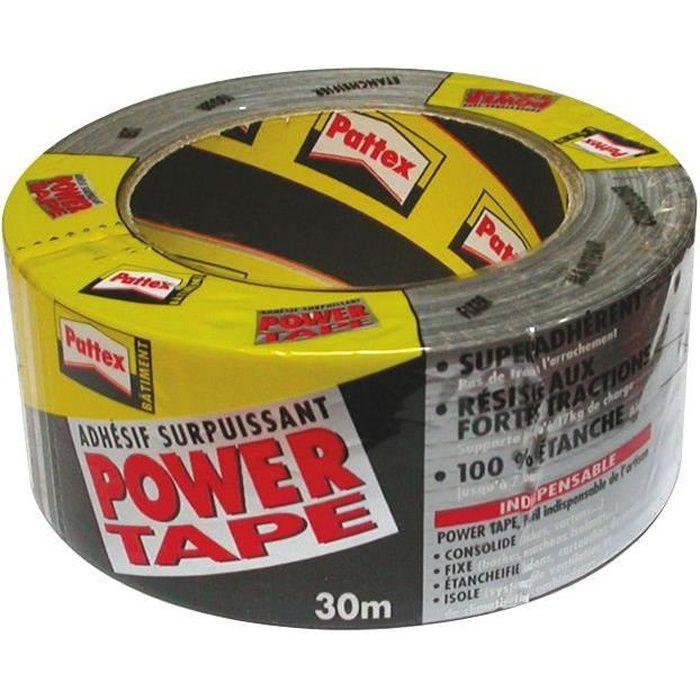 Ruban Adhésif Power Tape - Bâtiment - Gris - 30 M - Achat / Vente