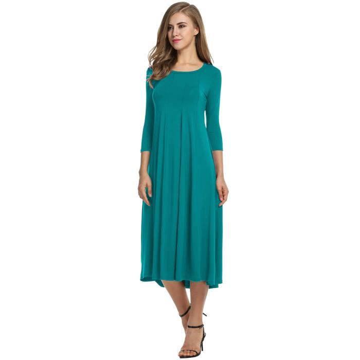 robe femme fille 3-4 Sleeve Casual Loose
