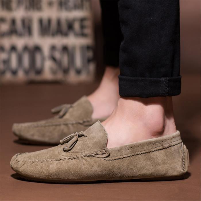 De 2017 De Confortable Marque chaussures nouvelle Meilleure Chaussures Homme Durable Qualité luxe Classique gris de Pois marque Luxe qwFxOt