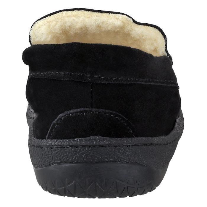 aubrey pantoufles mocassin i caoutchouc-semelle i vache-daim i 100% doublure polaire corail i confortable maison sl UO0DR Taille-39