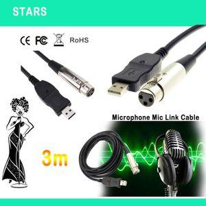 CASQUE AVEC MICROPHONE 3M USB Microphone Micro Mâle Adaptateur Câble Mâle