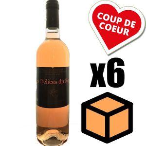 VIN ROSÉ X6 Les Délices du Roy 2016 Rosé 75 cl AOC Bordeaux