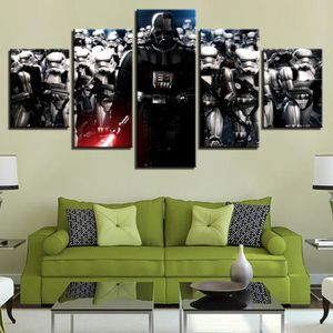 TABLEAU - TOILE Wall Art imprimer toile peinture 5 pièces Star War