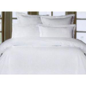 HOUSSE DE COUETTE SEULE Housse de couette satin 140x200 Blanc-Blanc