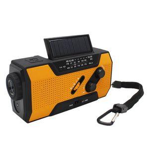 CHAISE Manivelle solaire AM Radio FM pour alarme d'urgenc
