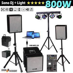 PACK SONO BOOST 1208 Système Amplifié 800W + 2 ENCEINTES 300