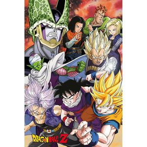 poster dragon ball z achat vente pas cher. Black Bedroom Furniture Sets. Home Design Ideas