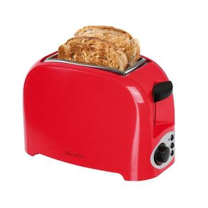 GRILLE-PAIN - TOASTER DOMOCLIP DOD112RN Grille-pain – 750W - Rouge