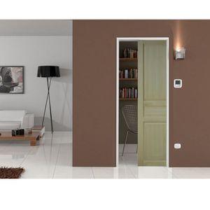 perfect porte coulissante porte d interieur et systeme a galandage a serrure with habillage. Black Bedroom Furniture Sets. Home Design Ideas