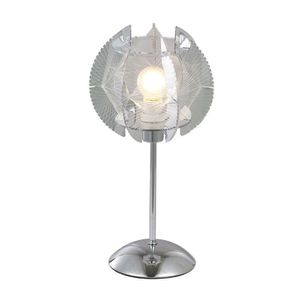 LAMPE A POSER Lampe à poser chrome - Soie translucide - Plastiqu