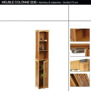 colonne salle de bain achat vente colonne salle de bain pas cher soldes d s le 10 janvier. Black Bedroom Furniture Sets. Home Design Ideas