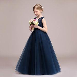 b1c81f106a868 TFJH Robe Cérémonie Fille Soirée Mariage Princesse Demoiselle Spectacle  Baptême Enfant Jupe Longue Nœud Papillon Taille