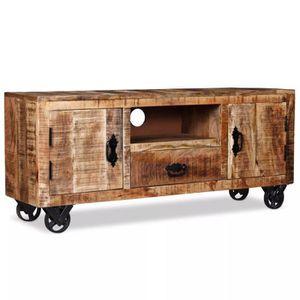 meuble tv en manguier achat vente pas cher. Black Bedroom Furniture Sets. Home Design Ideas