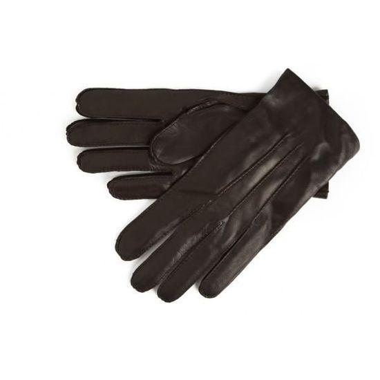 Gant cuir Simon Carter, marron, cuir Nappa, intérieur cachemire et ... 62396e0131b
