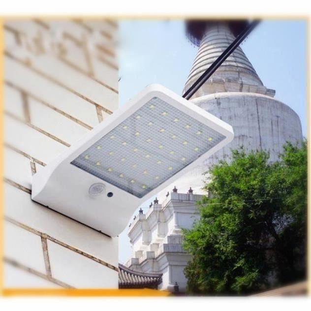 De entréeLumière Blanc Extérieure Sans Détecteur Led 36 Fil Lampe Avec Mouvement Solaire Et porte Pour Jardin Étanche dCxeBo