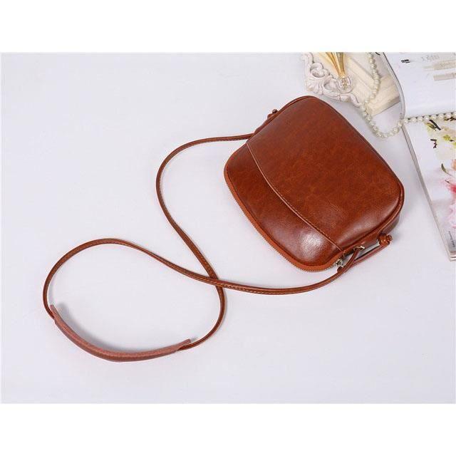 Sac à main cuir 20x17x6 cm couleur brun