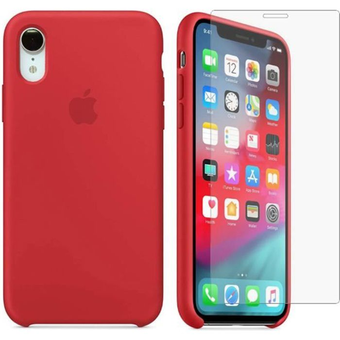 coque iphone xr rouge pas cher