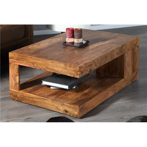 Table basse design gianto bois achat vente table for Table design 3 metres