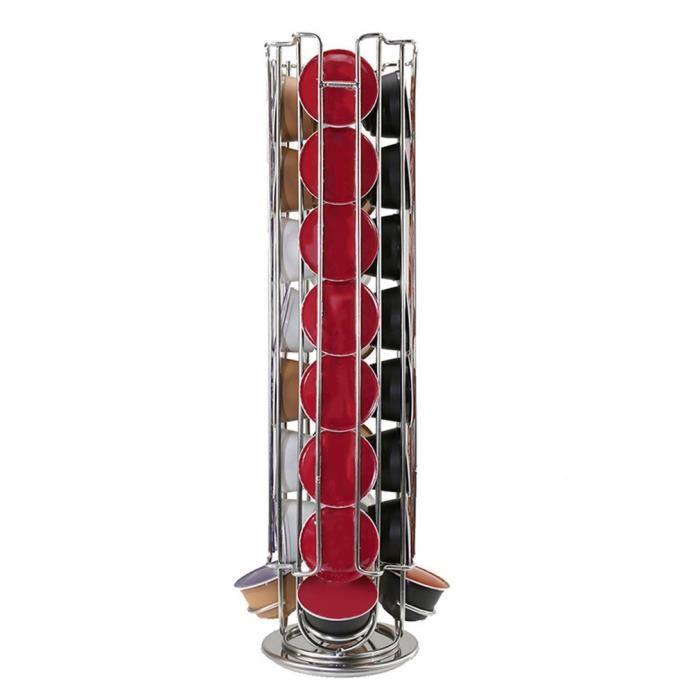 32 Pots Porte-Capsules Rotatif Distributeur Capsules Acier Chromé pour 32  pcs capsules café 7212084a4f4e