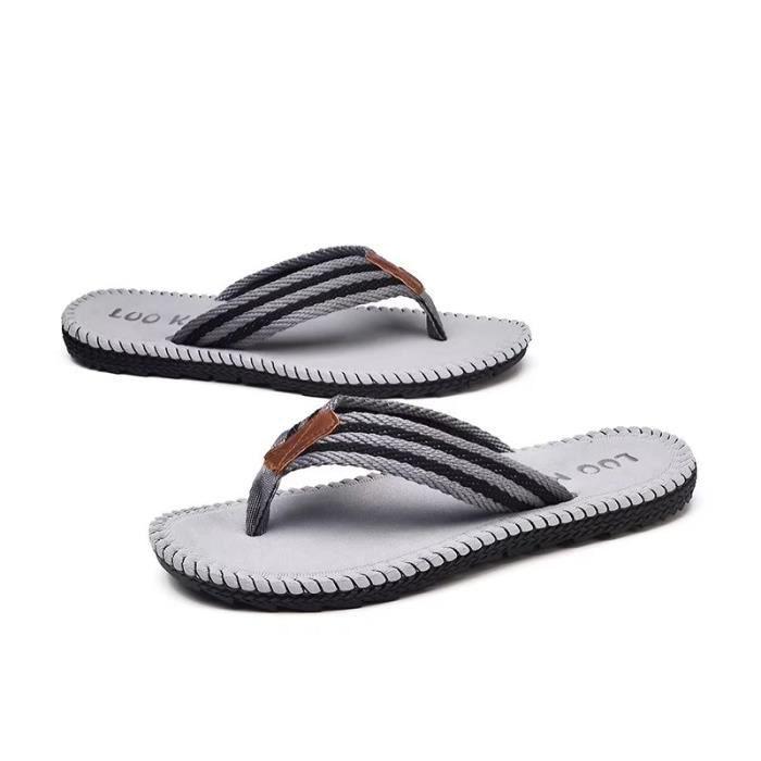 Hommes Sandal Hommes Flops Chaussures Pantoufles Plage Mode Été Des Plat Sandales Chaussons… 3AmsmqJyD