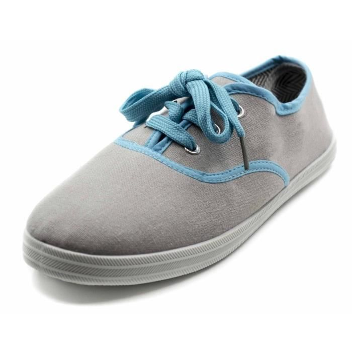 Lace up canvas sneakers YV2E8 Taille-40