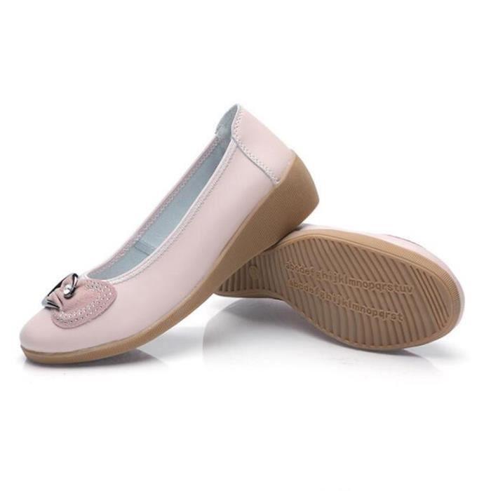 Chaussures Femme Cuir Classique Comfortable Chaussure BGD-XZ047Bleu36 8bOPZXedQ
