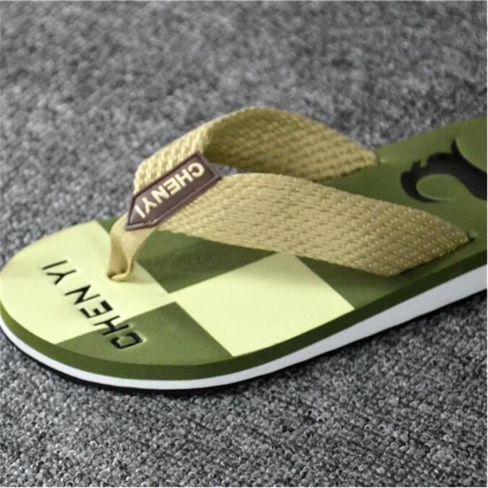 5a951ecf0a50 ... Tongs homme branché plein air 2017 nouvelle marque de luxe chaussure  Grande Taille 40-44