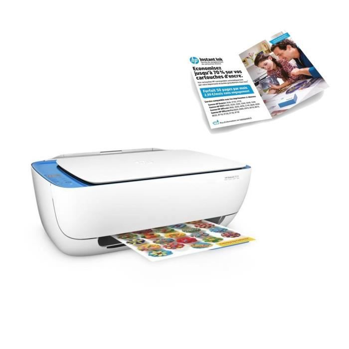 HP Deskjet 3639 Imprimante Multifonction All-in-One + Forfait Intant ink 50 pages