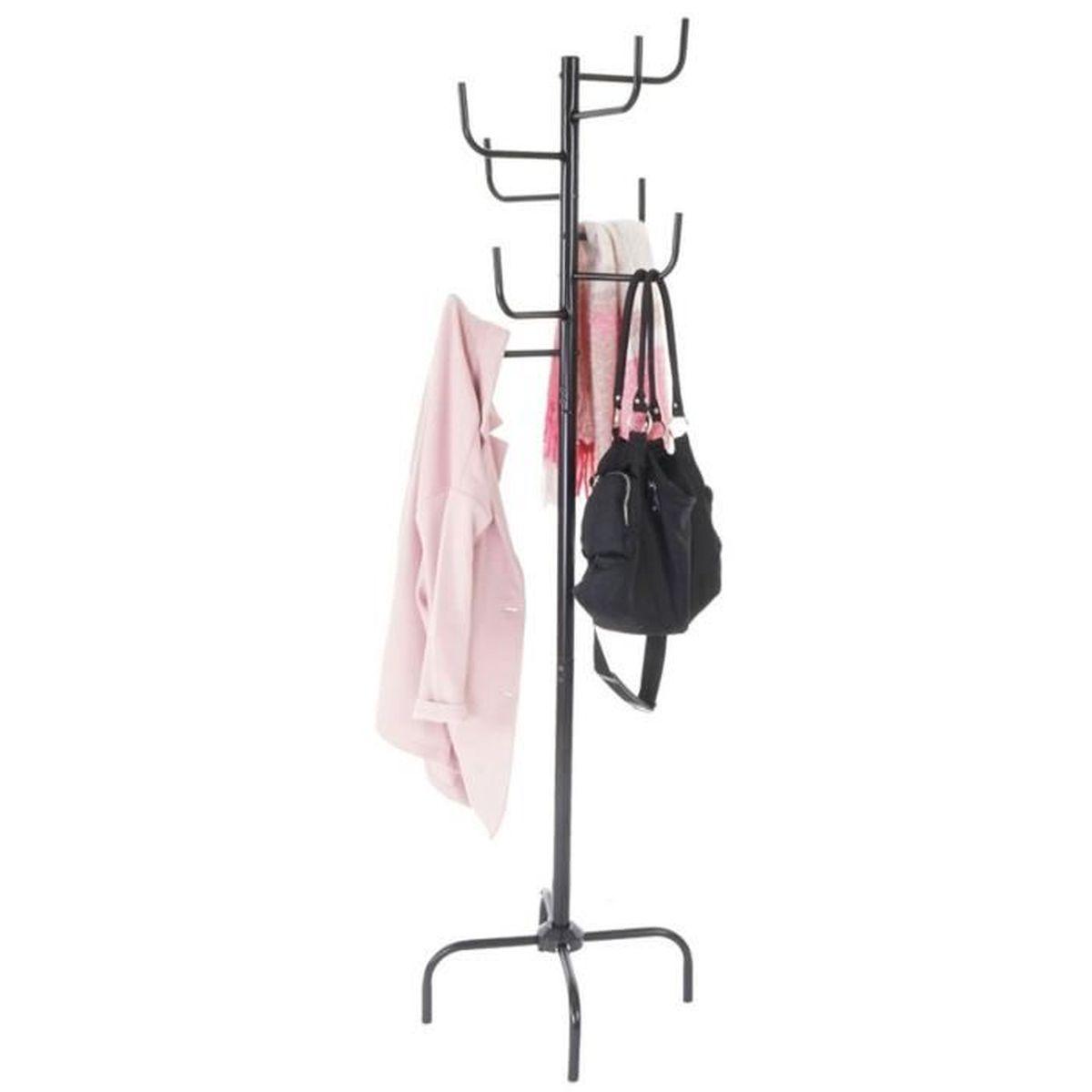 Porte-manteau coloris noir - Dim : 172 x 49 x 49 cm