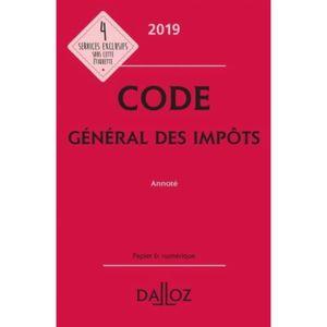 LIVRE DROIT AFFAIRES Code général des impôts annoté. Edition 2019