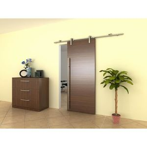 PORTE COULISSANTE SYSTEME COULISSANT INOX FIXATION TRANSVERSALE