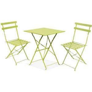 TABLE ET CHAISE Table Et Chaises De Jardin Terrasse Balcon 2 Place