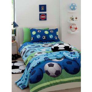 parure de lit football achat vente parure de lit football pas cher cdiscount. Black Bedroom Furniture Sets. Home Design Ideas
