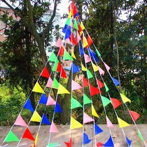 BANDEROLE - BANNIÈRE 80M Multicolore Banderole Bannière Triangle Suspen