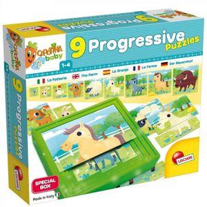 PUZZLE LISCIANI GIOCHI 9 Puzzle progressifs La ferme