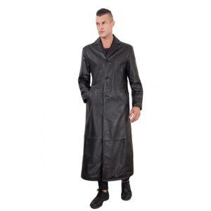 MANTEAU - CABAN 2299 Matrix   couleur noir  manteau en cuir d'agne