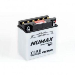 BATTERIE VÉHICULE Batterie moto Numax Standard avec pack acide YB9-B