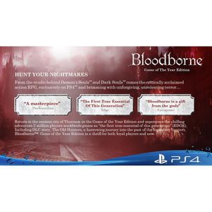 JEU PS4 Bloodborne Game of the Year (PS4) Import Anglais