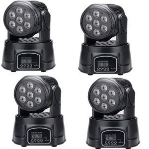 LAMPE ET SPOT DE SCÈNE STOEX® RGBW 7x10w Lyre Wash 80W QUAD - 7x10W led 4