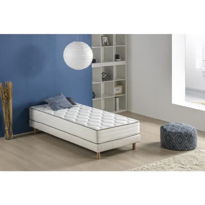 lit ensemble sommier et matelas finlandek chambre. Black Bedroom Furniture Sets. Home Design Ideas
