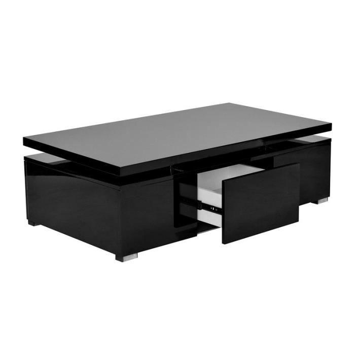 table basse laqu noir plateau relevable design achat vente table basse table basse laqu