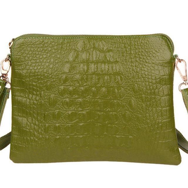 Sac à main immitation crocodile 20x26 cm Couleur vert