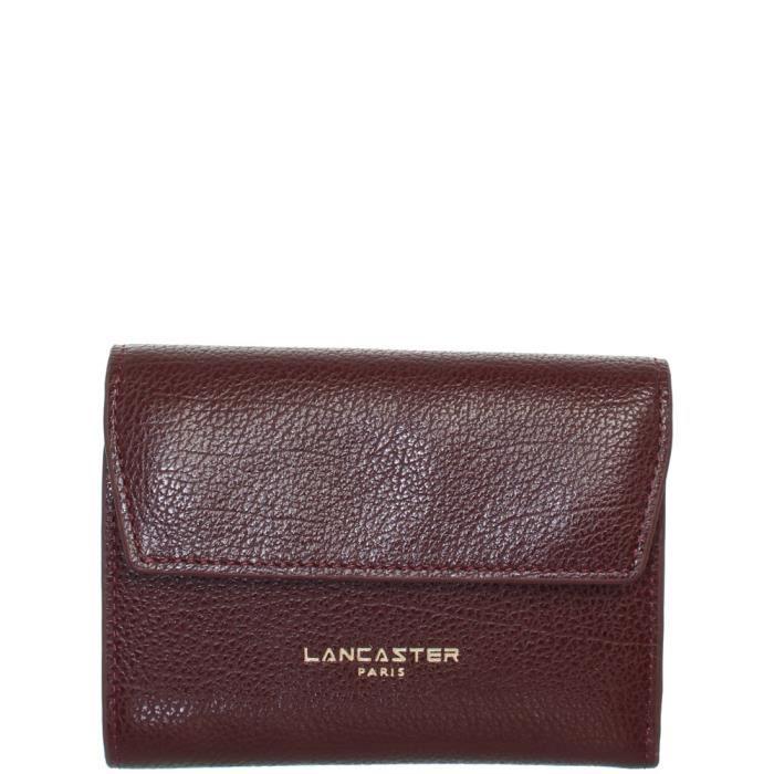Portefeuille Lancaster en cuir ref lan41892-bordeaux-12.5 9.5 2.5 ROUGE c95aade6863