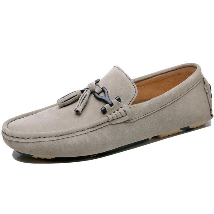 Moccasin Hommes Classique Beau Doux Chaussure Confortable Respirant Moccasins Haut qualité Durable Léger Extravagant 38-44