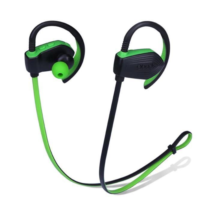 Qbuds Sh810 Écouteurs Sport Bluetooth Hifi Avec Technologie De Suppression Du Bruit Cvc6.0 Vert